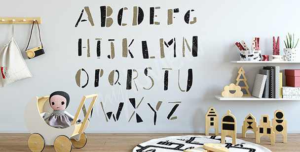 Sticker Druckbuchstaben