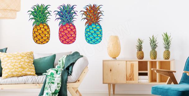 Sticker exotische Früchte