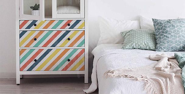 Sticker farbige Linien