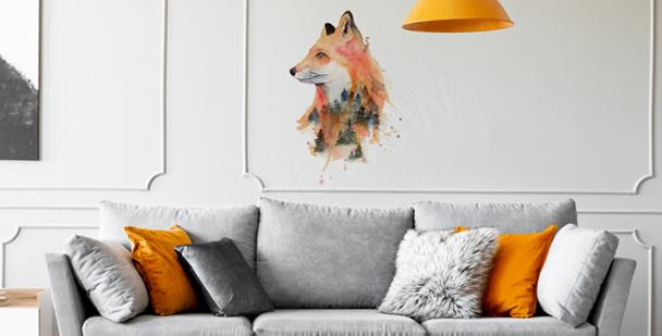 Sticker Fuchs in Aquarell