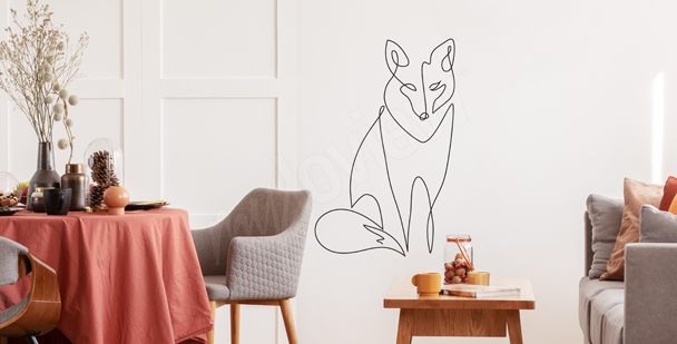 Sticker Fuchs Line Art