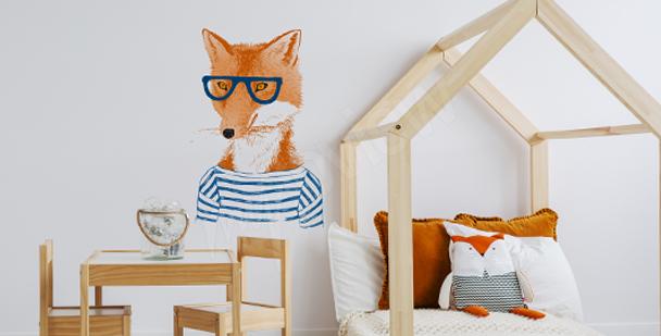 Sticker Fuchs mit Brille