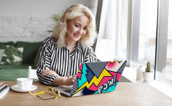 Sticker für den Laptop Pop-Art