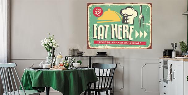 Sticker für die Küche im Retro-Stil