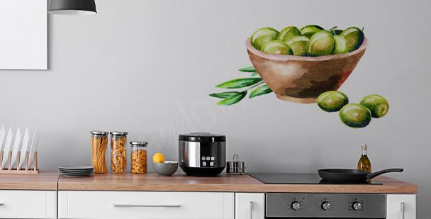 Sticker für die Küche in Aquarell