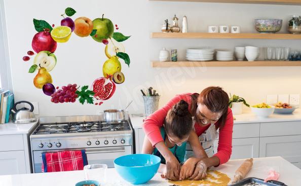 Sticker für die Küche Obstkranz