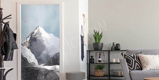 Sticker für die Tür mit K2-Gipfel