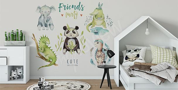 Sticker für ein Knabenzimmer: Tiere
