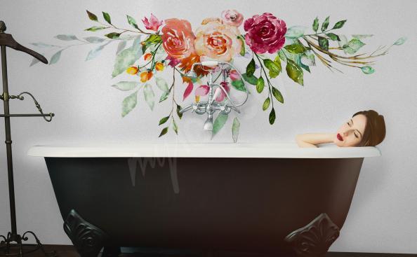 Sticker fürs Badezimmer mit Rosen