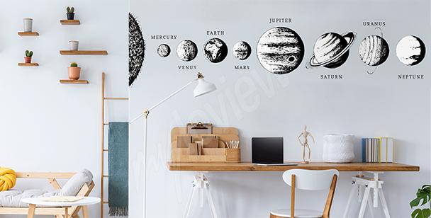 Sticker fürs Büro in Schwarz und Weiß