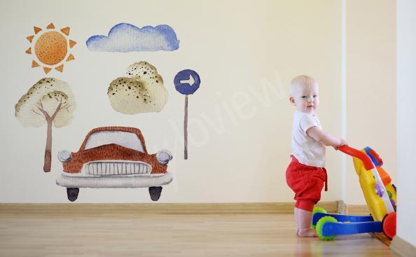 Sticker fürs Jungenzimmer Auto