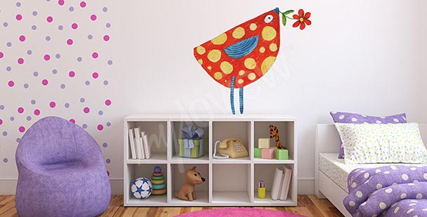 Sticker fürs Kinderzimmer Vogel