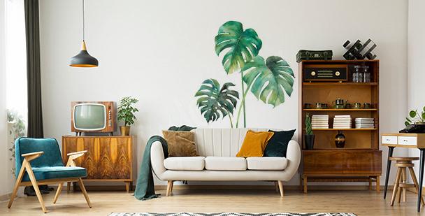 Sticker fürs Wohnzimmer mit Blättern