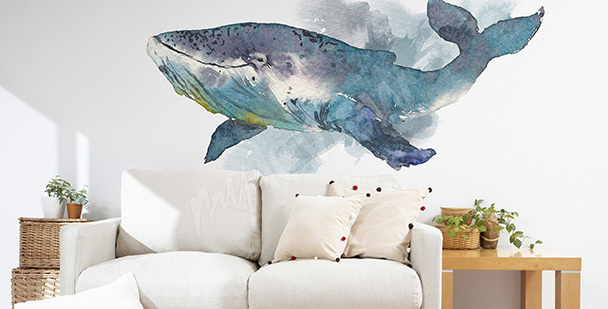 Sticker fürs Wohnzimmer mit einem Wal