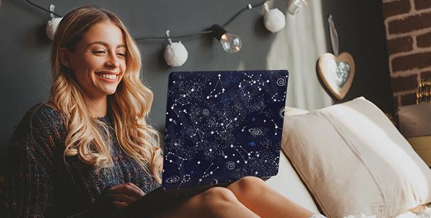 Sticker Galaxy für den Computer