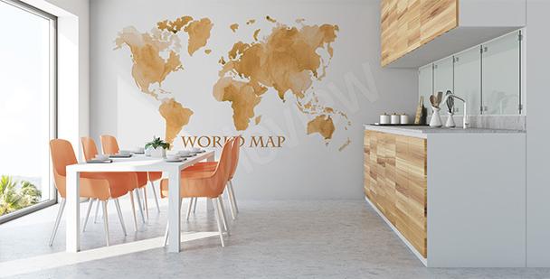 Sticker gealterte Weltkarte