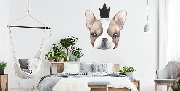 Sticker Gekrönter Hund