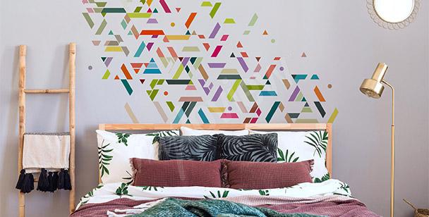 Sticker geometrische Streifen