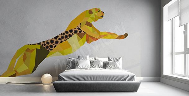 Sticker geometrischer Gepard