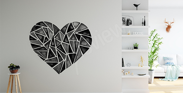 Sticker geometrisches Herz