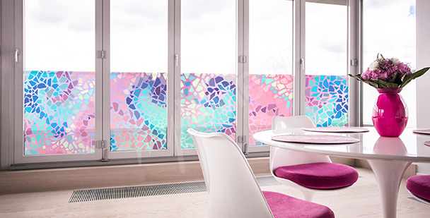 Sticker Glasfenster Mosaik