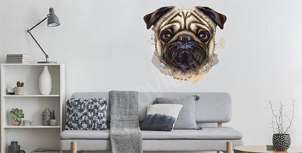 Sticker Hund Aquarell