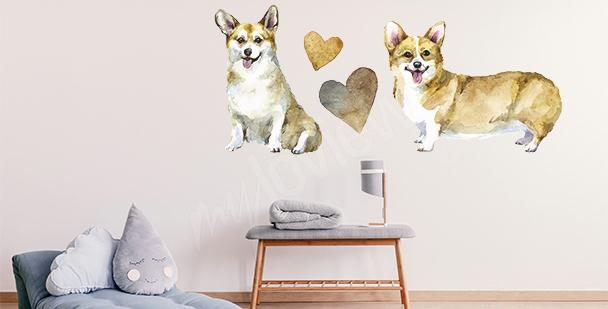 Sticker Hund Corgi