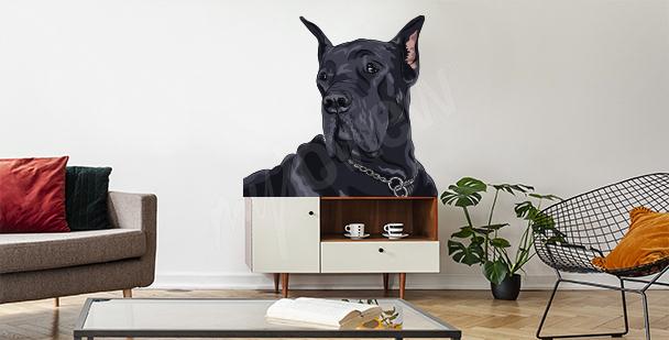 Sticker Hund fürs Wohnzimmer