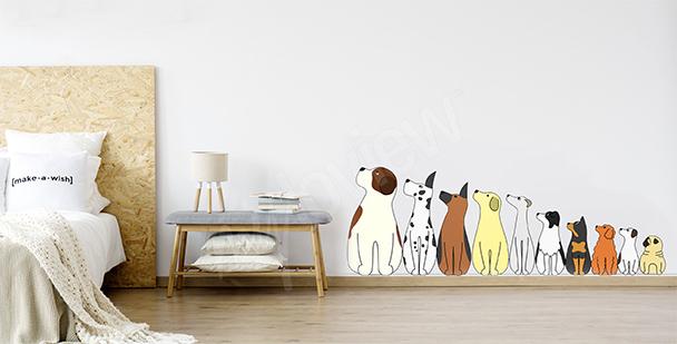 Sticker Hunde fürs Schlafzimmer