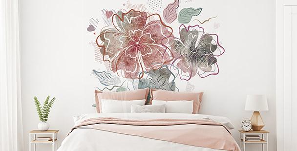 Sticker im Schlafzimmer: Blumen