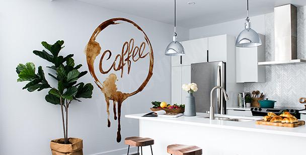 Sticker Kaffee in Aquarell