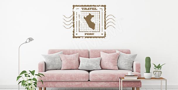 Sticker Karte Retro Peru