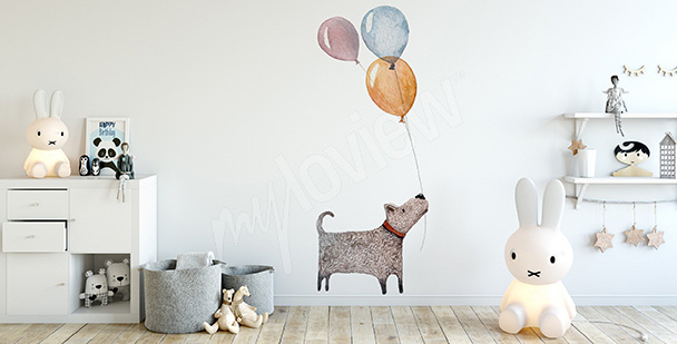 Sticker Kinderzimmer: Hund
