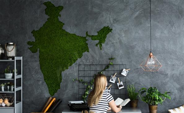 Sticker Landkarte Indien fürs Wohnzimmer