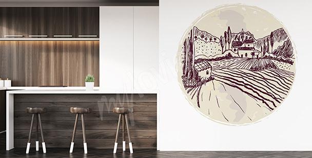 Sticker Landschaft für die Küche