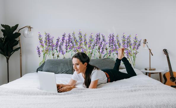 Sticker Lavendel für das Schlafzimmer