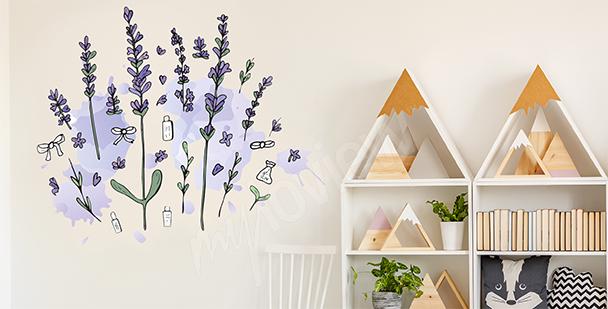 Sticker Lavendel fürs Kinderzimmer