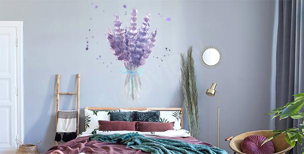 Sticker Lavendel fürs Schlafzimmer