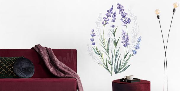 Sticker Lavendel in Aquarell