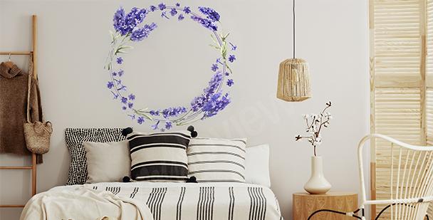 Sticker Lavendelkranz