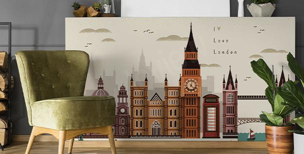 Sticker London und Architektur
