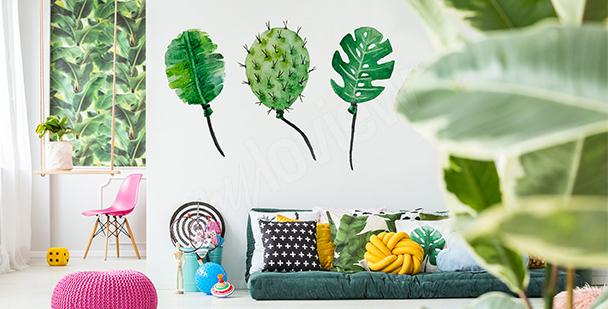 Sticker Luftballons aus Blättern