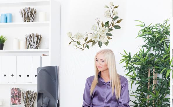Sticker Magnolie fürs Büro