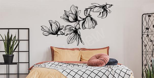 Sticker Magnolie fürs Schlafzimmer