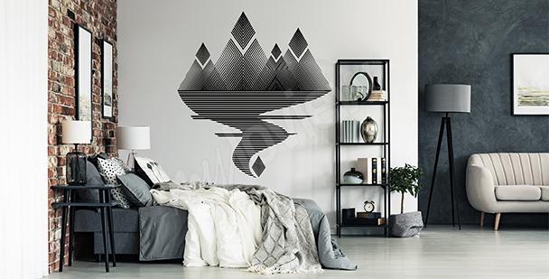 Sticker minimalistische Landschaft