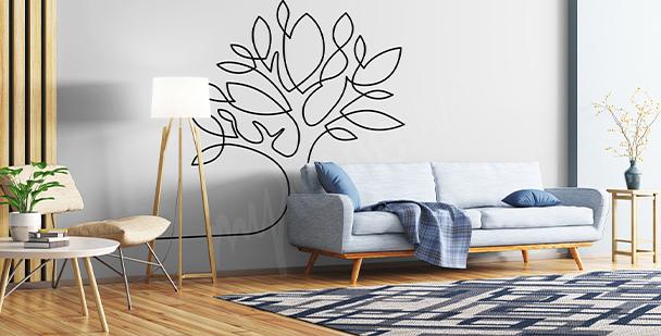 Sticker minimalistischer Baum