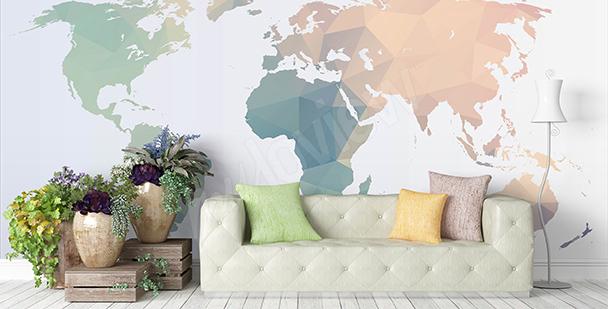 Sticker mit der Weltkarte