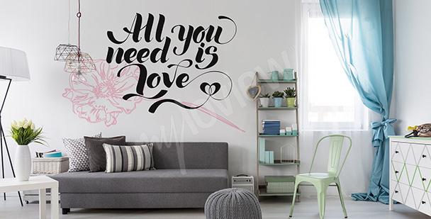 Sticker mit einem Liebeszitat