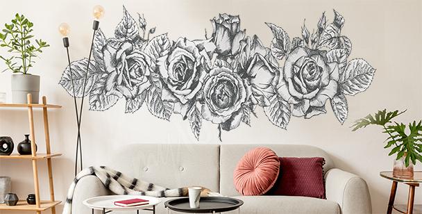 Sticker mit einem Rosenstrauß