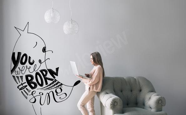 Sticker mit einem Zitat fürs Wohnzimmer